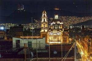 plaza de santa domingo chruches zocalo mexico-stad mexico foto