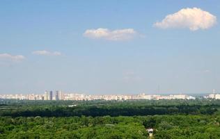 kiev skyline van de stad foto