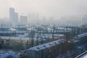 Kiev stad op een koude dag foto