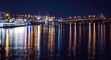 nachtlicht van de kiev foto