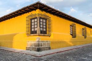 gele huishoek foto