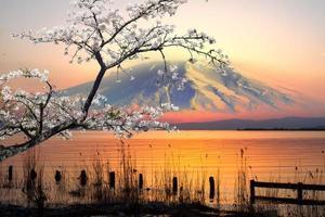 zonsondergang over het meer