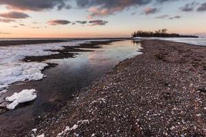 point pelee nationaal park - winters tafereel foto