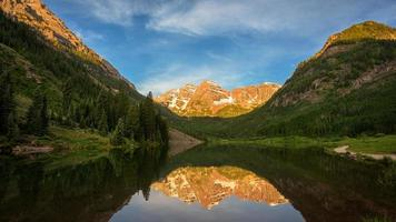 kastanjebruin meer, Colorado foto