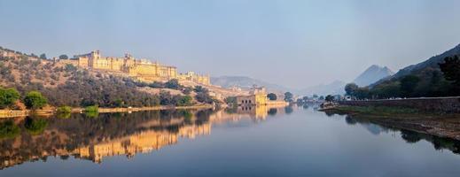 panorama van amer (amber) fort, rajasthan, india