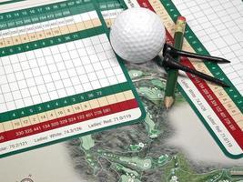 golf scorekaart foto