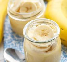 bananenpudding als ontbijt foto