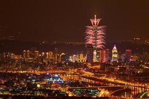 groot vuurwerk evenement foto