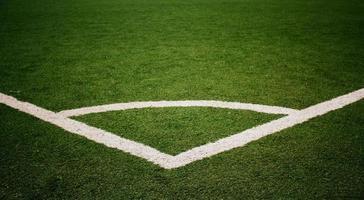 voetbalveld hoek foto