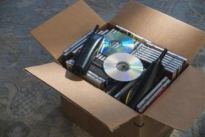 verouderde technologie in doos foto