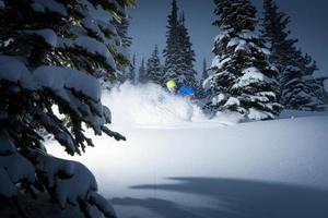 poeder skiën foto