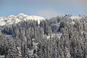 Mount Seymour Peak, verse sneeuw, Vancouver foto