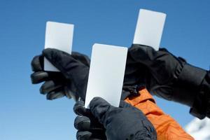 toegangsbewijs voor de skilift foto