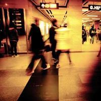 zakelijke passagiers lopen foto