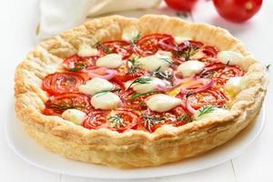 tomaten taart foto
