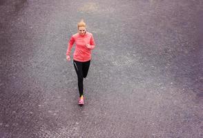 hardlopen in de stad foto