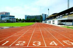 atletiekbaan nummers foto