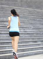 atleet uitgevoerd op trappen.