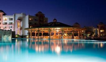 luxe resort in de avond. hurghada. Egypte foto