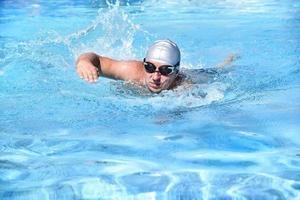 zwemmer foto