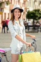 straat fiets foto
