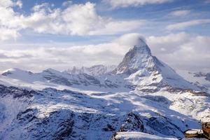 geweldige matterhorn met zermatt stad, zwitserland