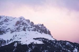 zonsopgang op odle di eores, Zuid-Tirol