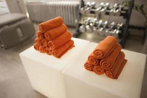 dumbbell handdoek foto