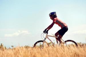 gezonde levensstijl fietsen foto