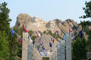 mount rushmore en de laan van vlaggen xxxl foto