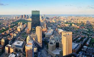 Boston zonsondergang foto