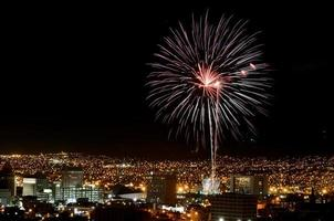 vuurwerk boven el paso, texas foto