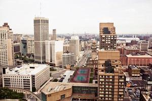 het centrum van Detroit foto