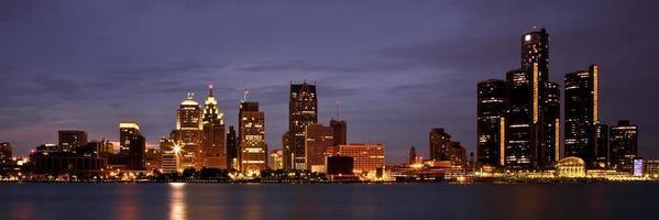 skyline van Detroit michigan