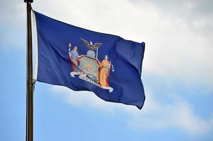 vlag van New York foto