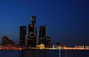 skyline van de stad foto