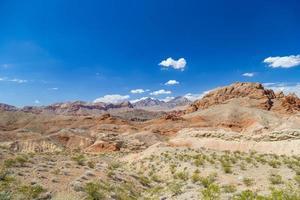 rode rotsen in de vallei van brand staat park, Nevada, Verenigde Staten