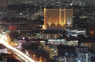nacht van bangkok, bangkok thailand foto