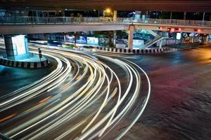 verkeer in bangkok foto