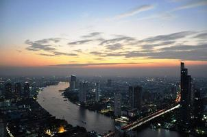 panorama van bangkok foto