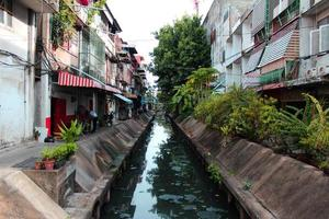 sloot van bangkok stad foto