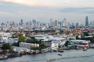 chao phraya rivier, bangkok, thailand foto