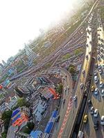 bangkok stad en de lucht foto