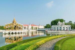 knal pa-in koninklijk paleis, ayutthaya, thailand foto