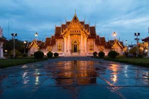 marmeren tempel thailand foto