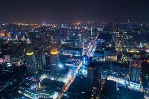 metropool van Bangkok foto
