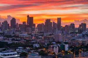 wolkenkrabber bangkok stad thailand