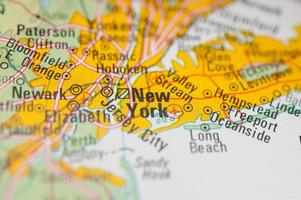 kaart van new york foto