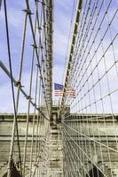 brooklyn bridge in new york city, Verenigde Staten foto