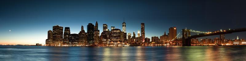 skyline van New York foto